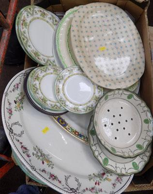 Boxed of mixed ceramics, incl Wedgewood