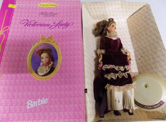 Limited edition boxed Barbie doll with Victorian lady costume