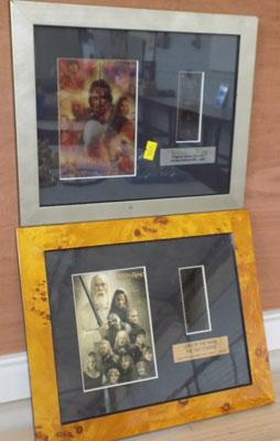 2x Lord Of The Ring's film cell framed photos
