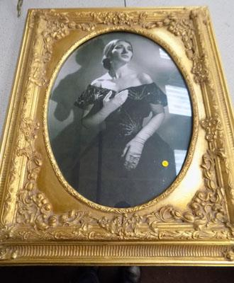 Picture of actress in gilt frame