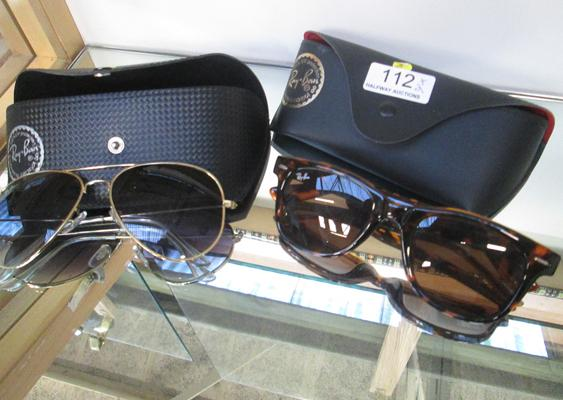 Two pairs of Ray-Ban sun glasses
