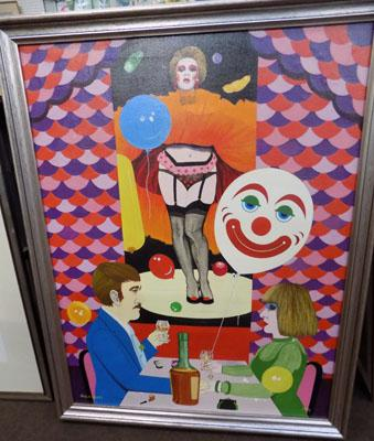 "Large unusual picture by Ducksbury 1981, 31"" x 41"""