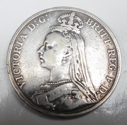 Victoria crown, dated 1890