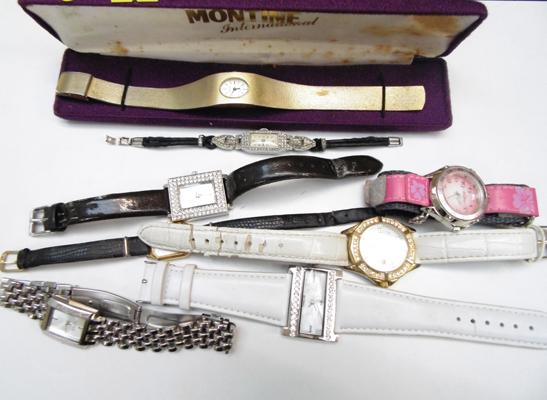 Selection of watches inc Montine & Art Deco wind up's w/o