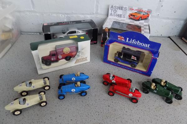 Selection of vintage die-cast cars, incl. 'Ashes to Ashes'