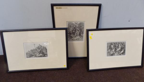 3x Lithographs from Aldrecht Durer engravings