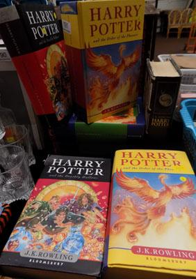 Seven Harry Potter hard back books Ltd Edition