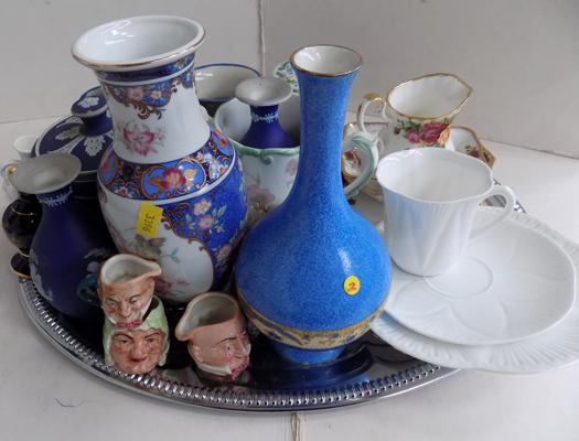 Assorted ceramics including Winton Royal Albert, Adams ware & Shelley trio
