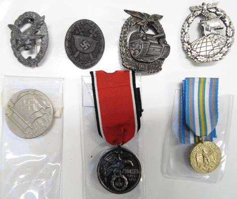 Collection of German medals & badges inc replacements