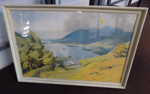 "Derwent Water picture by W.Heaton Cooper - 32"" x 22"""