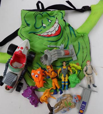 Ghostbusters backpack, figures & cars