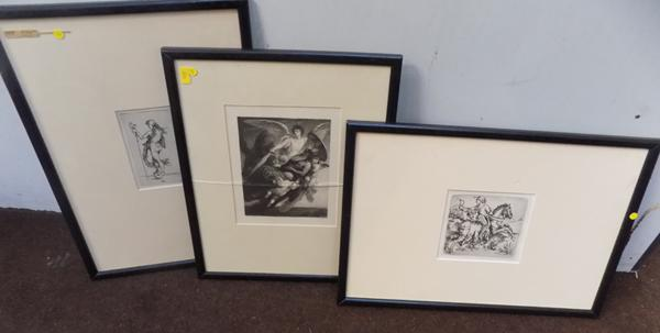 3x Lithographs (1 Aldrecht Durer, 1 W Unger & 1 other)