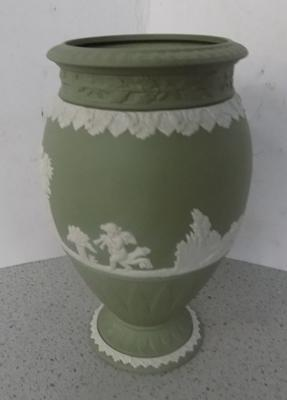 "Wedgewood vase - no damage, 8"" high"