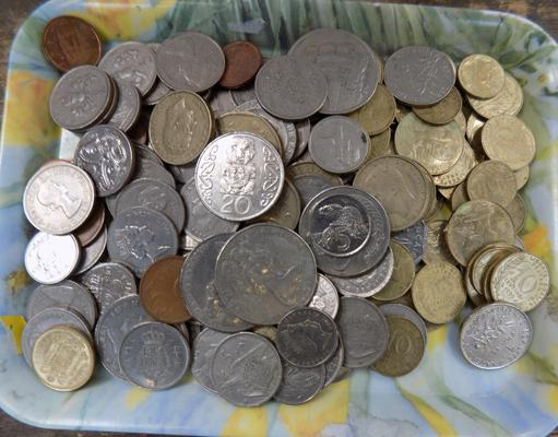 Selection of foreign coins
