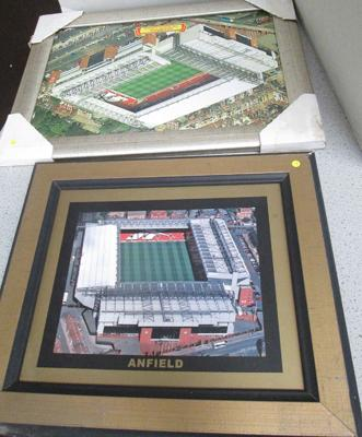 Two small Liverpool pictures in frames
