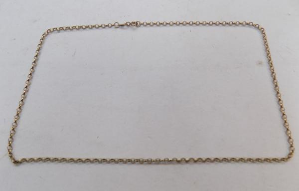 "18"" 9ct gold belcher chain"