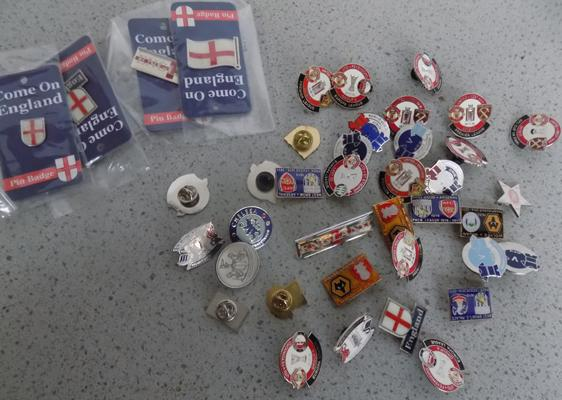 40 football pin badges