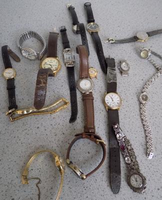 Collection of 20 watches inc vintage ladies cocktail wathces