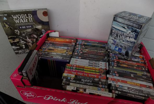 Box of DVDs & box sets