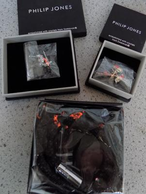 Philip Jones bracelet & earrings - new in box