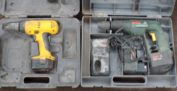 Dewalt drill & bosch drill (as seen)