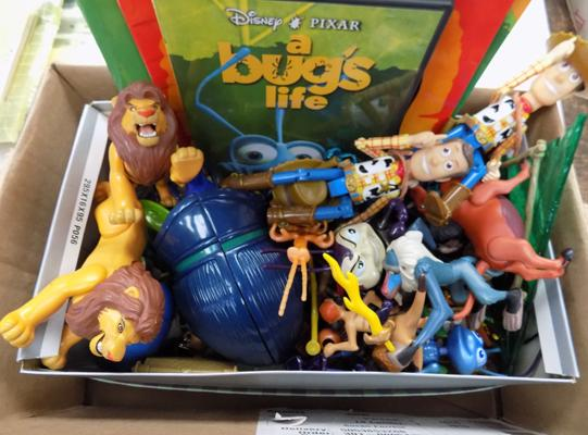Selection of Disney figures inc Toy Story, Bugs Life & the Lion King