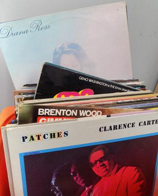 Box of LPs, incl. J R Walker, Tams, Motown