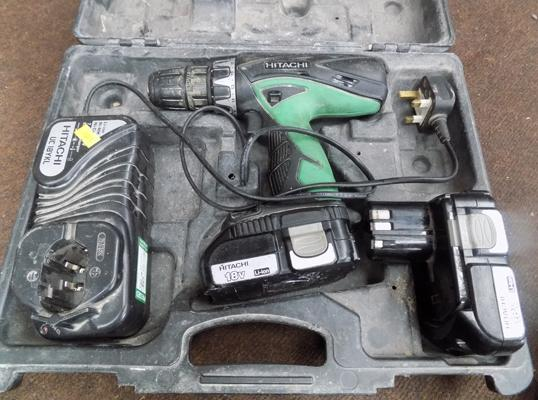 Hitachi drill with charger & batteries