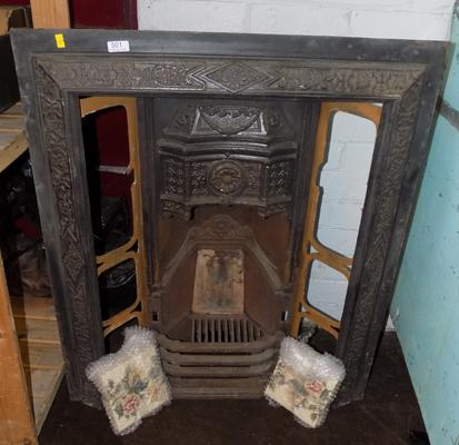 Vintage cast iron fire surround