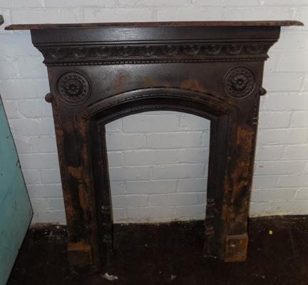Vintage cast iron fire place