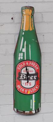 Tin beer clock