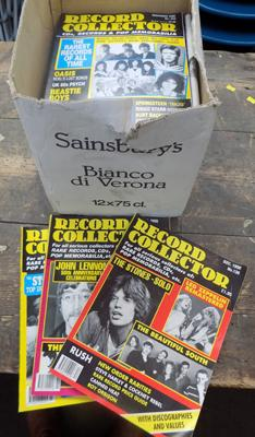 Large box of record collector magazines