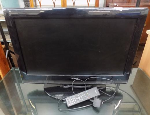 "Hitachi 25"" TV with remote control, W/O"