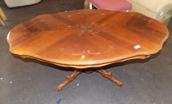 Glossed inlaid coffee table (loose top)
