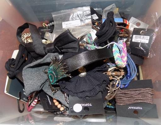 Tub of costume jewellery