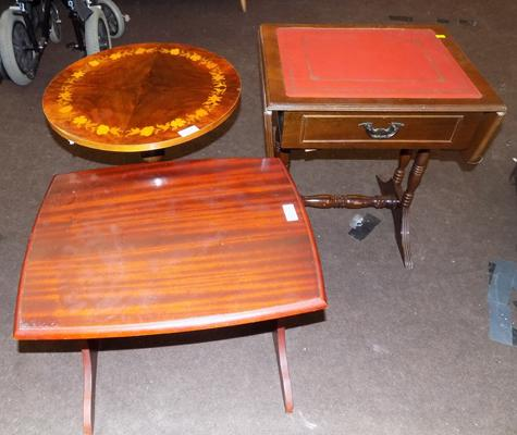 3x Occasional tables