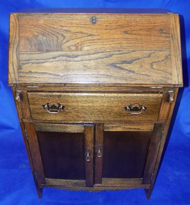 Solid oak writing bureau