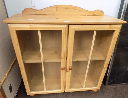 Pine display cupboard