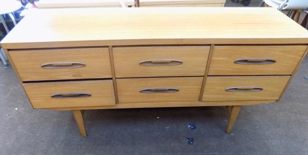 Retro 6 drawer sideboard