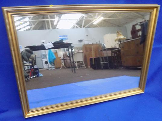 "Large gold framed mirror 39""x27"""