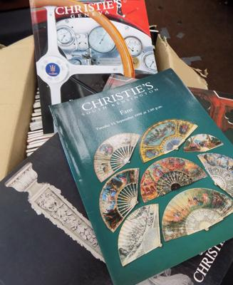 Box of Christie catalogues
