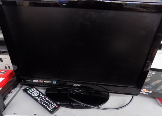 "22"" TV + built in DVD player - W/O, remote in the office"