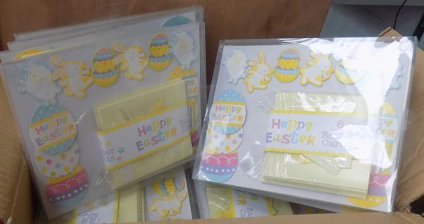 Box of 'make your own' Easter card packs