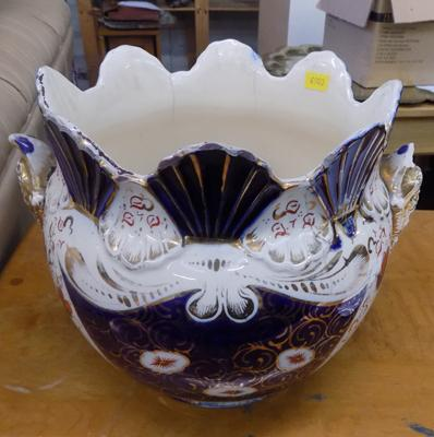 Jardinaire - plant pot, vintage Imari, Crown Derby colours