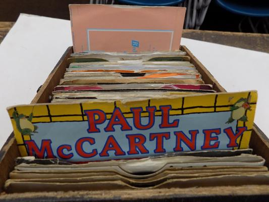 Collection of vintage single records