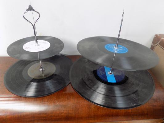 Pair of record display stands