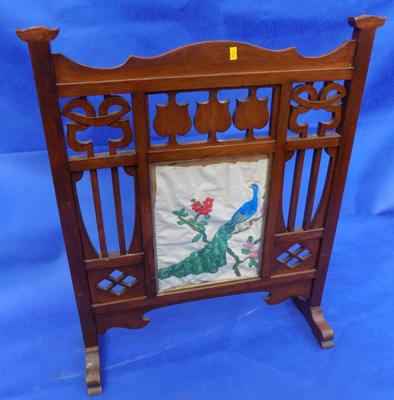 Vintage carved firescreen