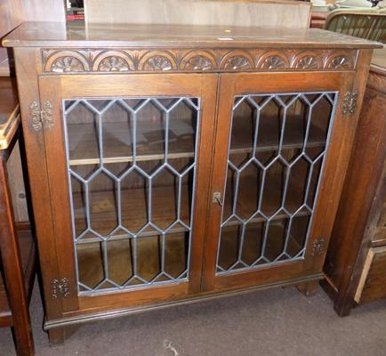 Oak leaded front cabinet