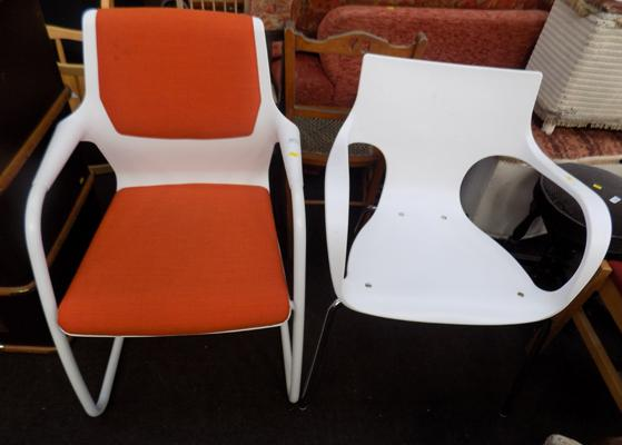 2x Modern 'Him & Hers' chairs