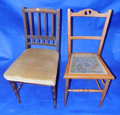 Two hall/bedroom chairs